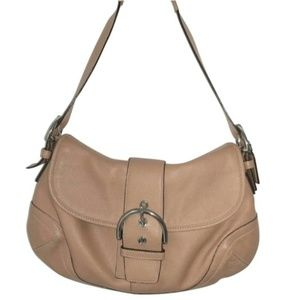 Coach Hobo Style Purse Silver Hardware Leather